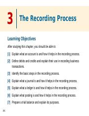 LECTURE 3(1) - The Recording Process (1)