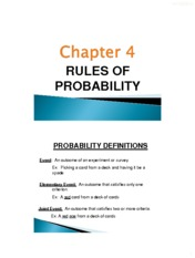 Ch 4 Probability selected slides