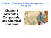 Chapter 3 Molecules, Compounds, and Chemical Equations