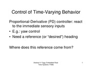 Lecture Notes on Control of Time-Varying Behavior