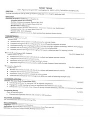 BUAD 302T Spring 2014 Leventhal Resume Template