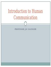 1 Introduction to Human Communication