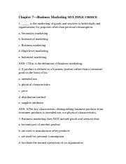 Chapter 7—Business Marketing MULTIPLE CHOICE.docx