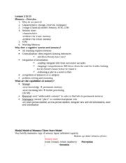 Cognitive Science Notes 10