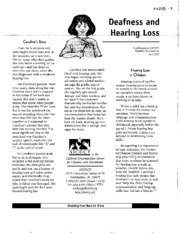 H25 - Deafness and Hearing Loss