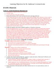 Learning Objectives Exam 4.docx