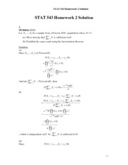 Stat 543 Assignment 2 Solution