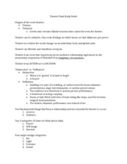 Theater Final Study Guide