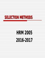 Lecture 5 Selection Methods.ppt