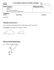 Similar Triangles to Solve Problems