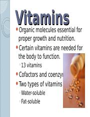 Lab 7 - Vitamins - Lecture.ppt