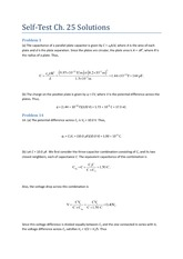 Self Test Ch 25 Solutions