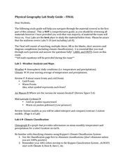 Physical Geography Lab Study Guide- Final Exam