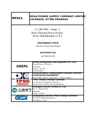 Vacuum Pump Data Sheets