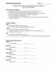 PHASE CHANGE WORKSHEET.pdf - Phase Changes Worksheet Kinetic Theory ...