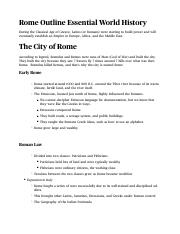Rome Notes/Outline Chapter 5 Essential World History