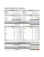 BiWeekly-Personal-Budget-Template