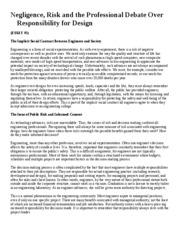 Negligence essay