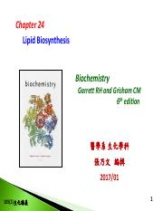 Chapter 24-Lipid biosynthesis