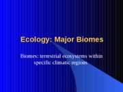 Chapter50 Ecology Major Biomes