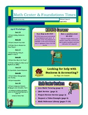 April 2012  Math Center Newsletter