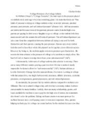 college pressures essay