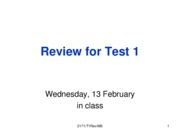 Test Review 1