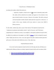 critical_review_of_published_articles_report_format_project_2