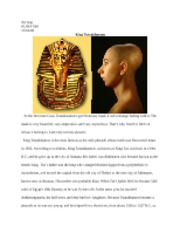 king tut essay questions As king tut, was a pharaoh during the  questions 1 king tutankhamun was the most important ruler of  write an essay detailing what happened that caused.