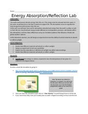 5.15 Energy Absorption-Reflection Lab Document