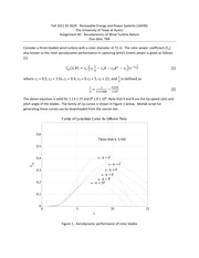 Assignment 2 Aerodynamics of Wind Turbines_solutions
