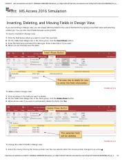 6 - Inserting, Deleting, and Moving Fields in Design View