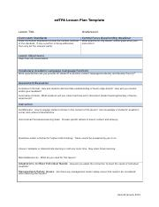 edtpa lesson plan template edtpa lesson plan template lesson title