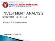 Chapter 6.2 Valuation 2