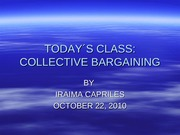 TODAYS CLASS Collective Bargaining 22-10-2010