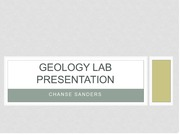 Geology Lab Presentation