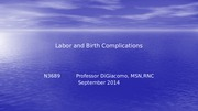 Labor and Birth Complications(1)