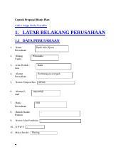Contoh Proposal Bisnis Plan Docx Contoh Proposal Bisnis Plan
