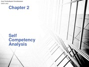 Chapter 2 - Self Competency Analysis