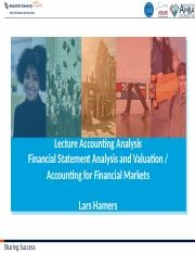 Lecture Accounting Adjustments (2016)