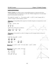 21 Geometry Similar Triangles all