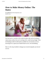 Pocket_ How to Make Money Online_ The Basics