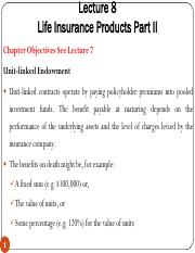 Lecture 8 - Life Insurance Products Part II.pdf