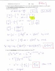 Study Guide Differential Equations Exam 2