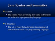 Introduction to Java II