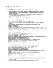 Art History Test #1 Study Guide
