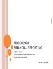 Introduction to Financial Reporting