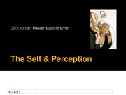 Ch 3 The Self & Perception
