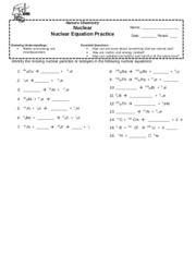 3. Nuclear Equations Practice_HS_2015 - Honors Chemistry ...