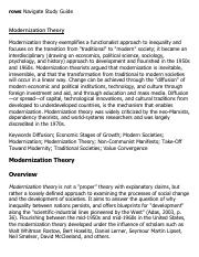 Modernization Theory Research Paper Starter - eNotes